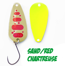 Microspoon SNAKE Sand/Red Chartreuse